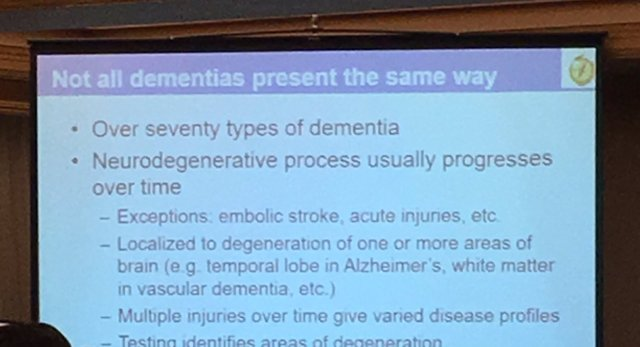 not all dementia present the same