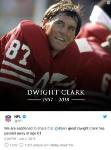 Dwight Clark NFL tweet